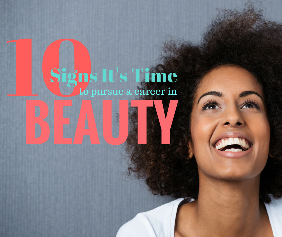 Beautiful, and joyous, African American woman with logo for blog: 10 things about a career in beauty