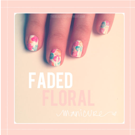 Spring Nail designs faded