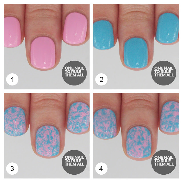 Spring Nail designs speckled