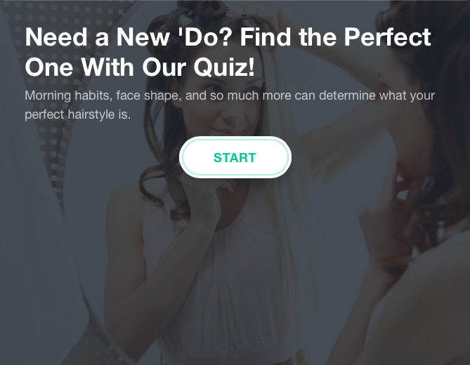 Perfect hairstyle quiz