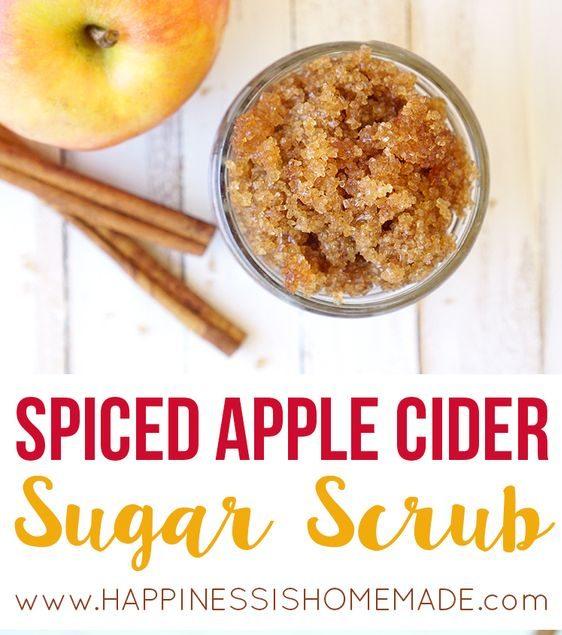 spiced cider scrub