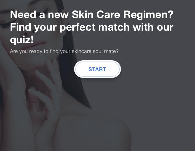 Skin care quiz portal