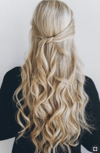 Blonde girl with curls