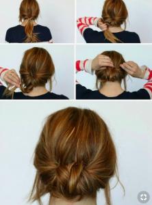 messy low bun tutorial